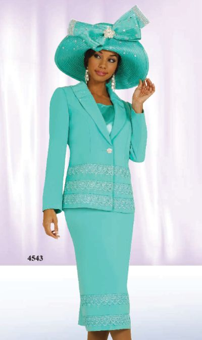 Ben Marc International 3pc Womens Church Suit 4543 French