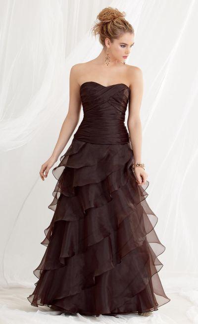 Jordan 455 Organza Ruffle Bridesmaid Dress: French Novelty