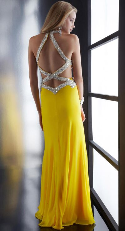 Yellow Sexy Prom Dresses 7