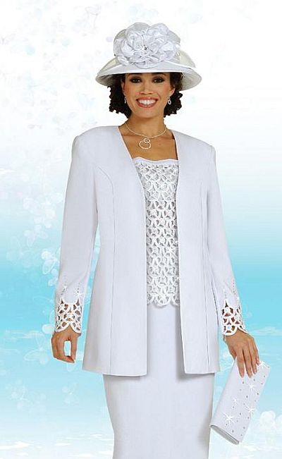Innovative Women Church Suits WHITE N94592  N94592  Not Just Church Suits