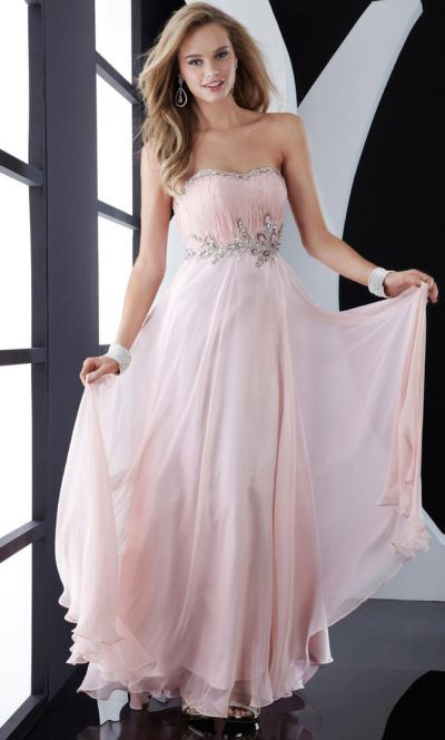 ed037fd9a6 Jasz Gorgeous Pink Long Prom Dress with Beaded Waist 4555  French Novelty