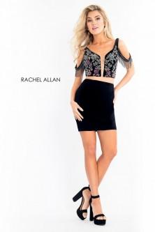 882153cb66c Rachel Allan 4591 Fringe 2 Piece Cocktail Dress