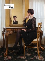 Lasuisse by Ursula 46005 Plus Size Lace MOB Dress image