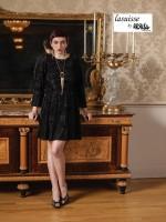 Lasuisse by Ursula 46007 Plus Size Long Sleeve Cocktail Dress image