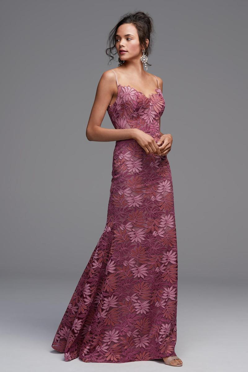 Watters 4602 Bellamy Long Leaf Lace Bridesmaid Dress: French Novelty