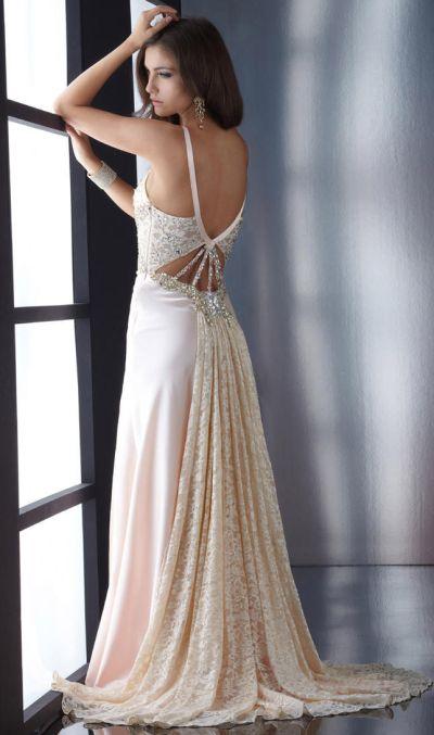 Jasz Dusty Pink Prom Dress With Illusion Cutouts 4604