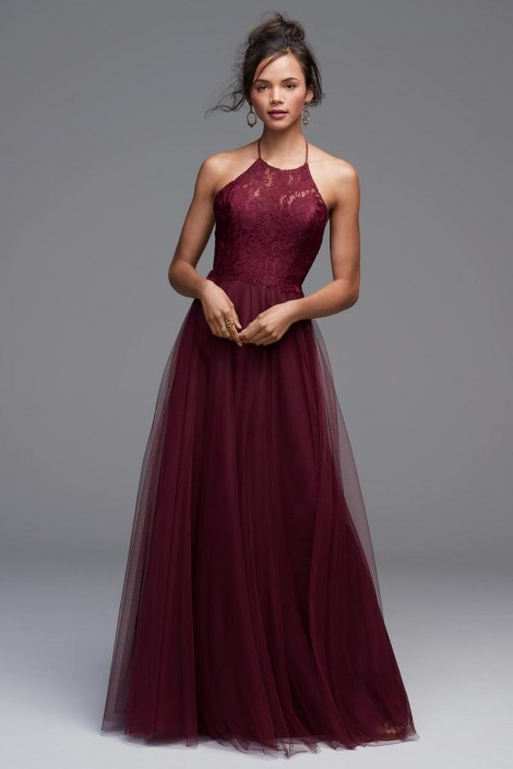 175645c40fa Watters 4604 Rory Lace Halter Bridesmaid Dress  French Novelty
