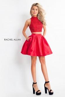 74338530c2 Rachel Allan 4678 Lace Up Back 2 Piece Short Dress