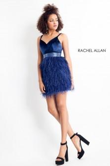 cfb0e63b98 Rachel Allan 4685 Ombre Cocktail Dress.  258.00. Rachel Allan 4682 Short  Dress with Feather Skirt