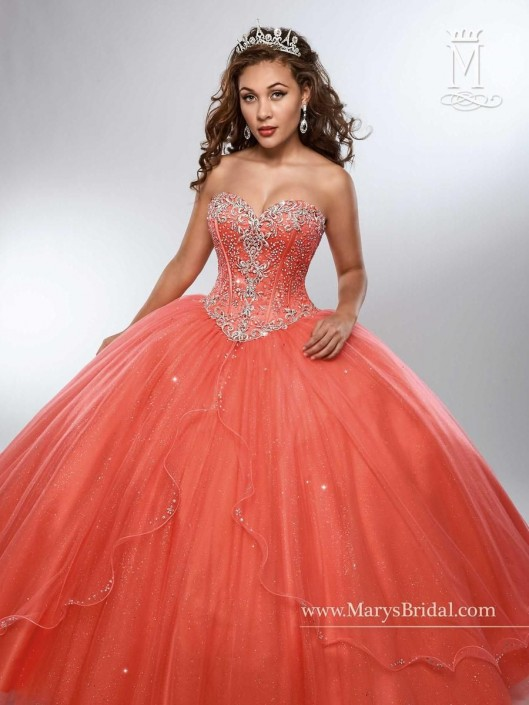 ff96c196951 Marys 4688 Shimmering Tulle Quinceanera Dress  French Novelty