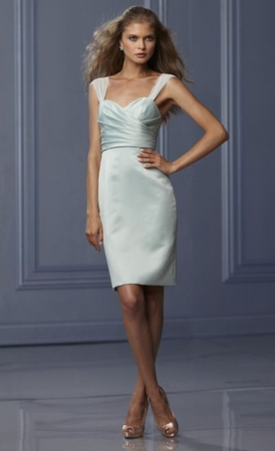Wtoo 469 Pencil Skirt Short Bridesmaid Dress French Novelty