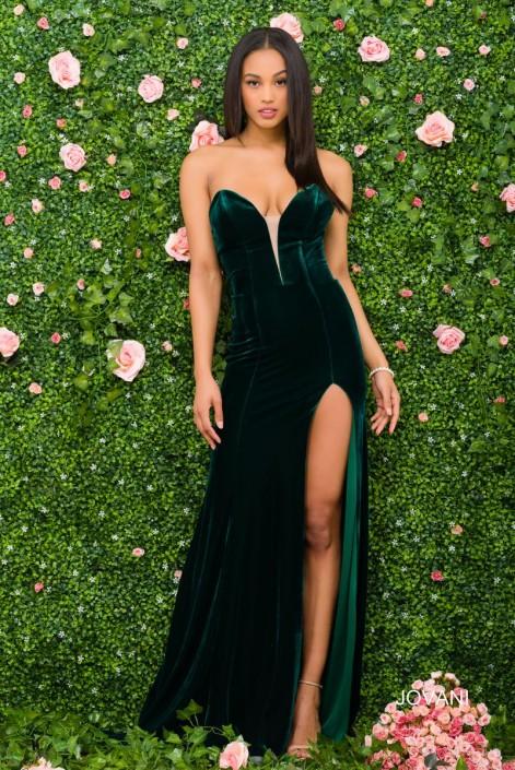 e5b0bd4d132 Jovani 46920 Revealing Velvet Prom Gown  French Novelty