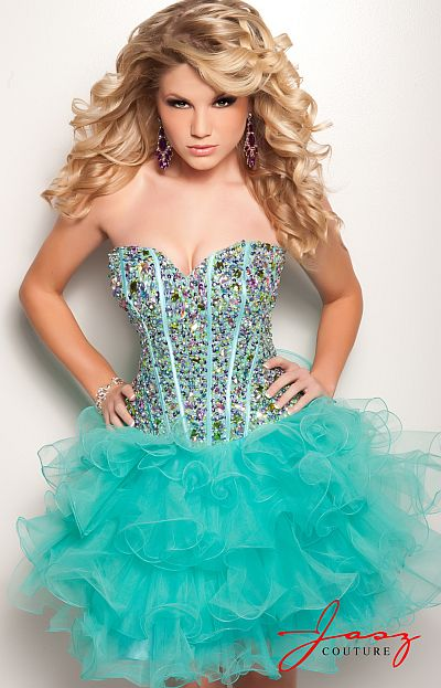 Jasz Short Homecoming Dress 4702: French Novelty