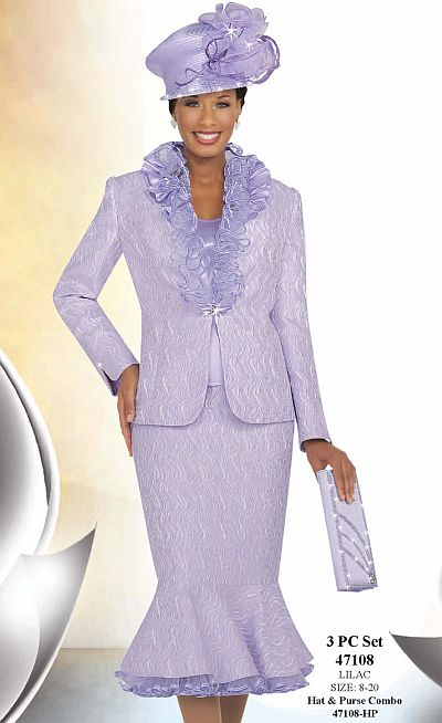 Ben Marc International Womens Lilac Church Suit With