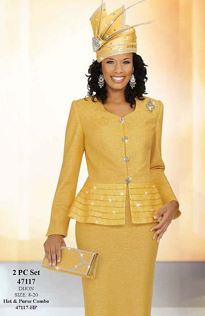 Ben Marc Womens 2pc Brocade Church Suit With Pleating 47117 French