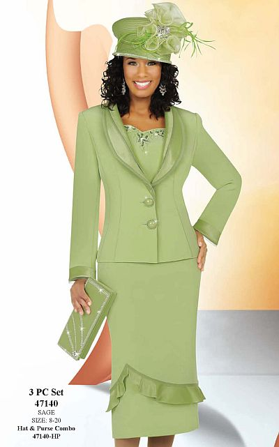 a6a6f8585c Ben Marc International Womens 3pc Church Suit With Cutwork ...
