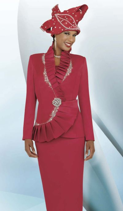 BenMarc International 47226 Womens Red Church Suit image
