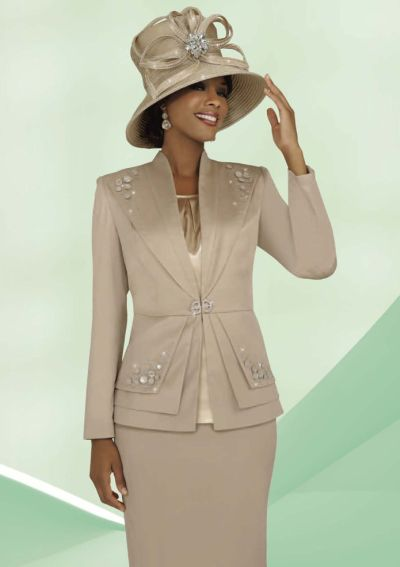 ee86e6a65 BenMarc Intl 47228 Ladies Three Piece Church Suit: French Novelty
