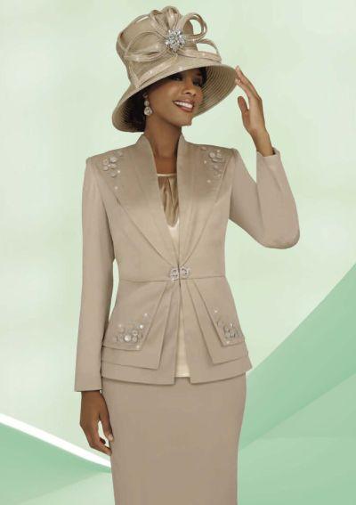 benmarc intl 47228 ladies three piece church suit french