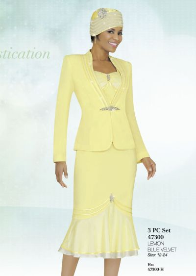 Ben Marc Intl 47300 3pc Womens Church Suit French Novelty