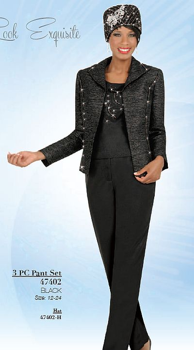 Womens Formal Pant Suits. The cultured aesthetic of women's formal pant suits is ideal for your work week wardrobe, as well as any special events you may need to attend. Whether it's pants and a blazer, a slit skirt and a blazer or a dress and evening jacket, you can't beat the elegant, tasteful look of women's formal pant suits.