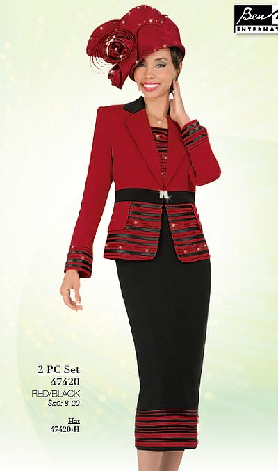 Ben Marc International Womens Church Suit 47420: French