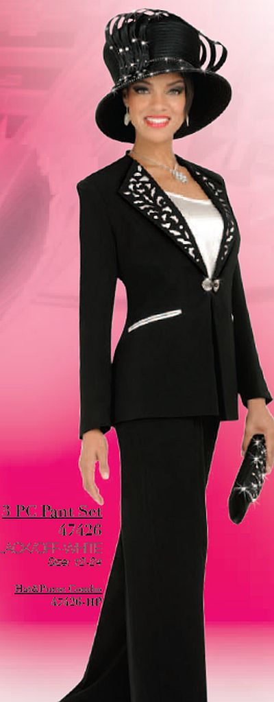 Ben Marc 47426 Womens Dressy Pant Suit French Novelty