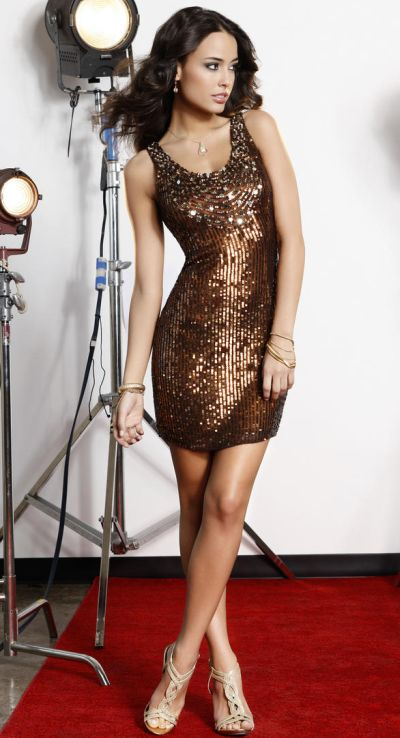 Scala Homecoming Bronze Sequin Tank Cocktail Dress 47437: French ...
