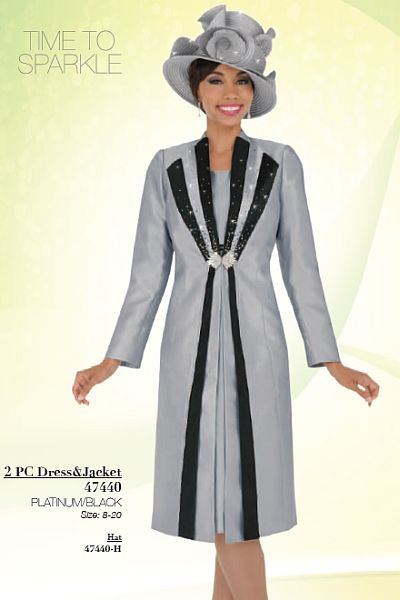 Ben Marc 47440 Womens Church Suit With Long Jacket French Novelty