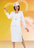 Ben Marc 47509 Womens White Church Suit image