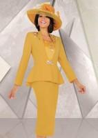 Ben Marc 47528 Womens Gold Church Suit image