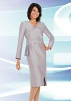 Ben Marc 47533 Womens Shantung Church Dress image