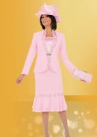 Ben Marc 47561 Womens 3pc Church Suit with Hat image