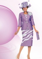 Ben Marc 47562 Womens Shantung Church Suit with Hat and Purse image