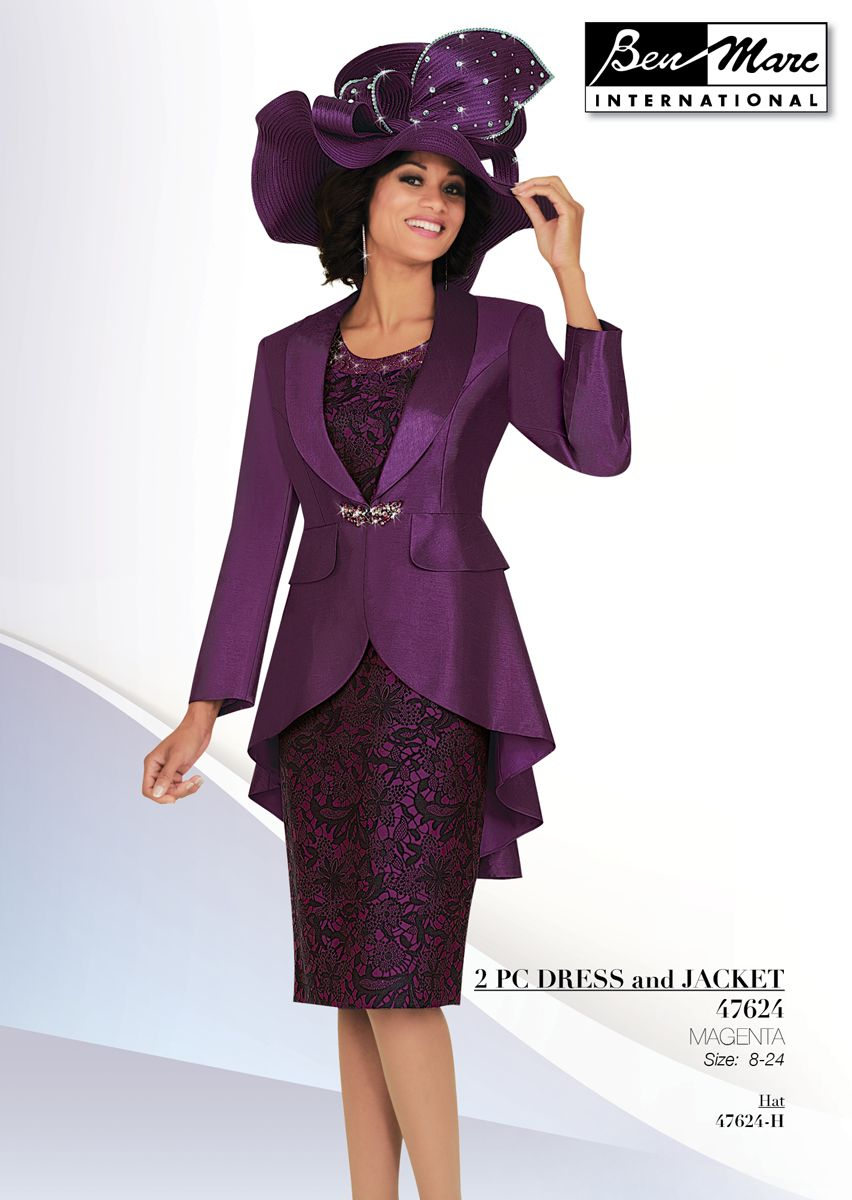Ben Marc 47624 Womens Brocade Church Suit French Novelty