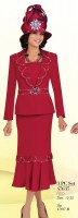 Ben Marc 47637 Womens Red Church Suit image