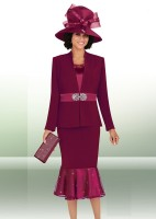 Ben Marc 47653 Womens 3pc Church Suit with Hat image