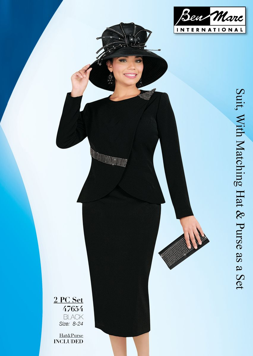 Ben Marc 47654 Womens Church Suit With Hat French Novelty