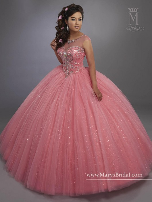 3c5548f6705 Marys 4768 Sparkling Tulle Quinceanera Dress  French Novelty