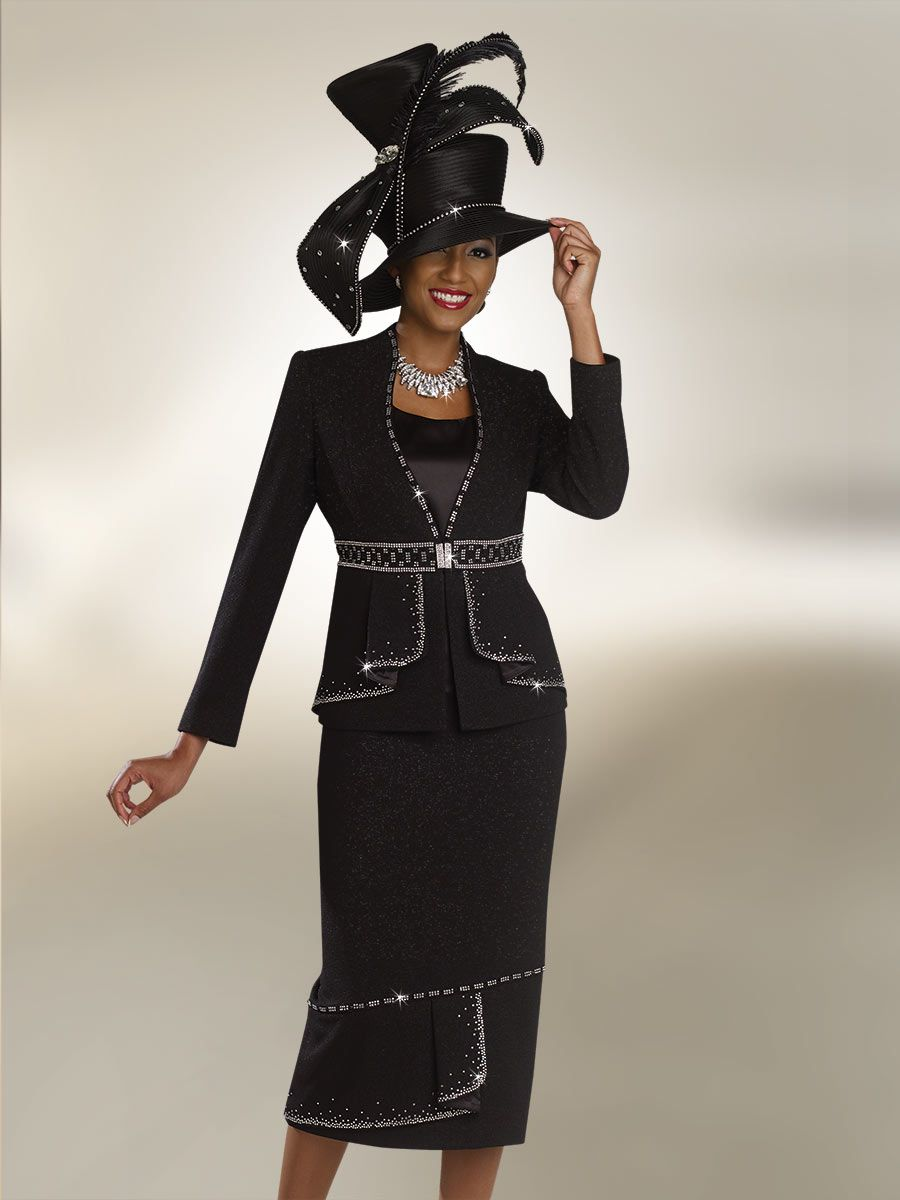 Ben Marc 47809 Womens Suit With Rhinestone Trim French