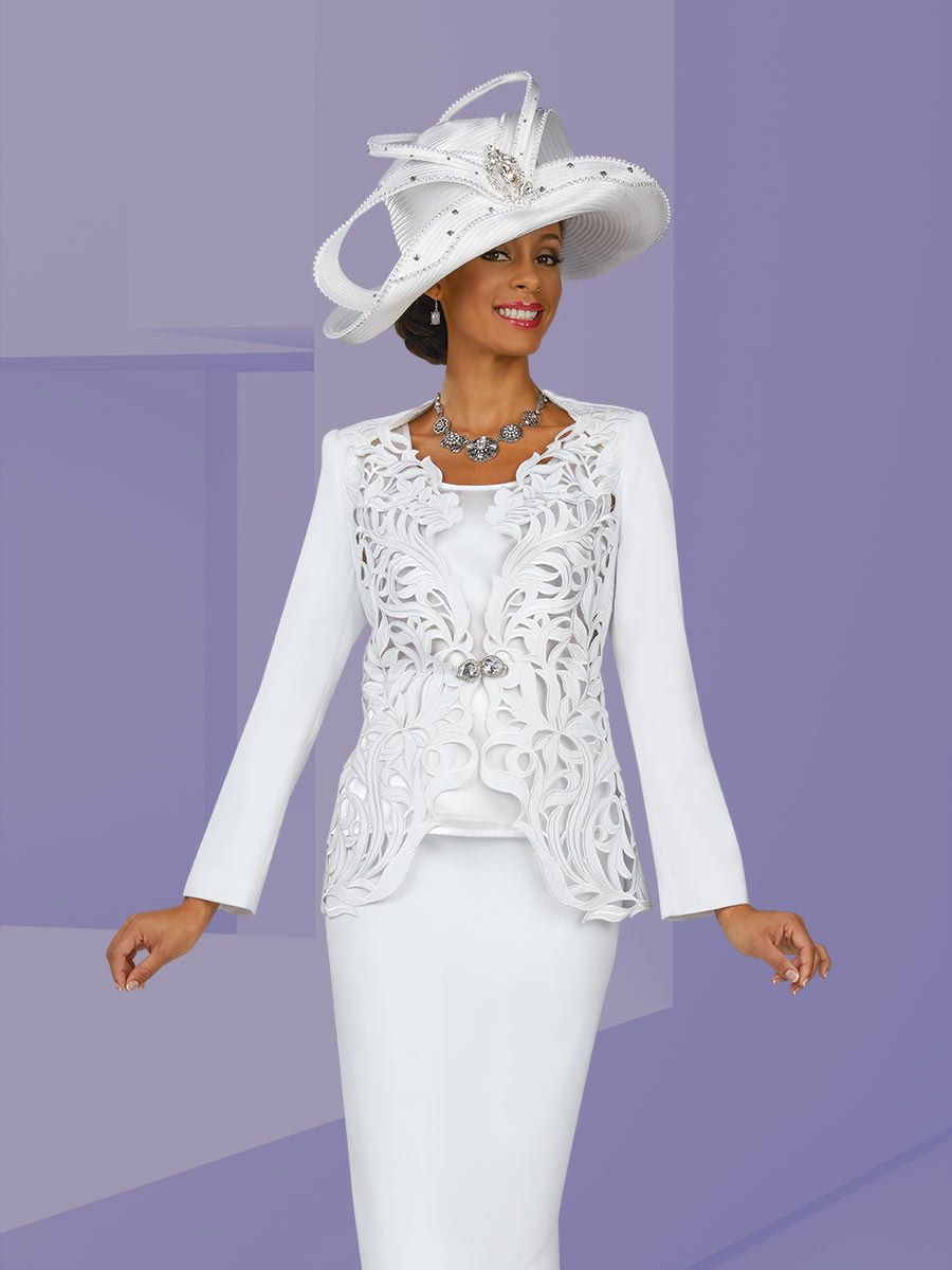 Ben marc 47905 womens cut work church suit french novelty for Womens white dress suit wedding