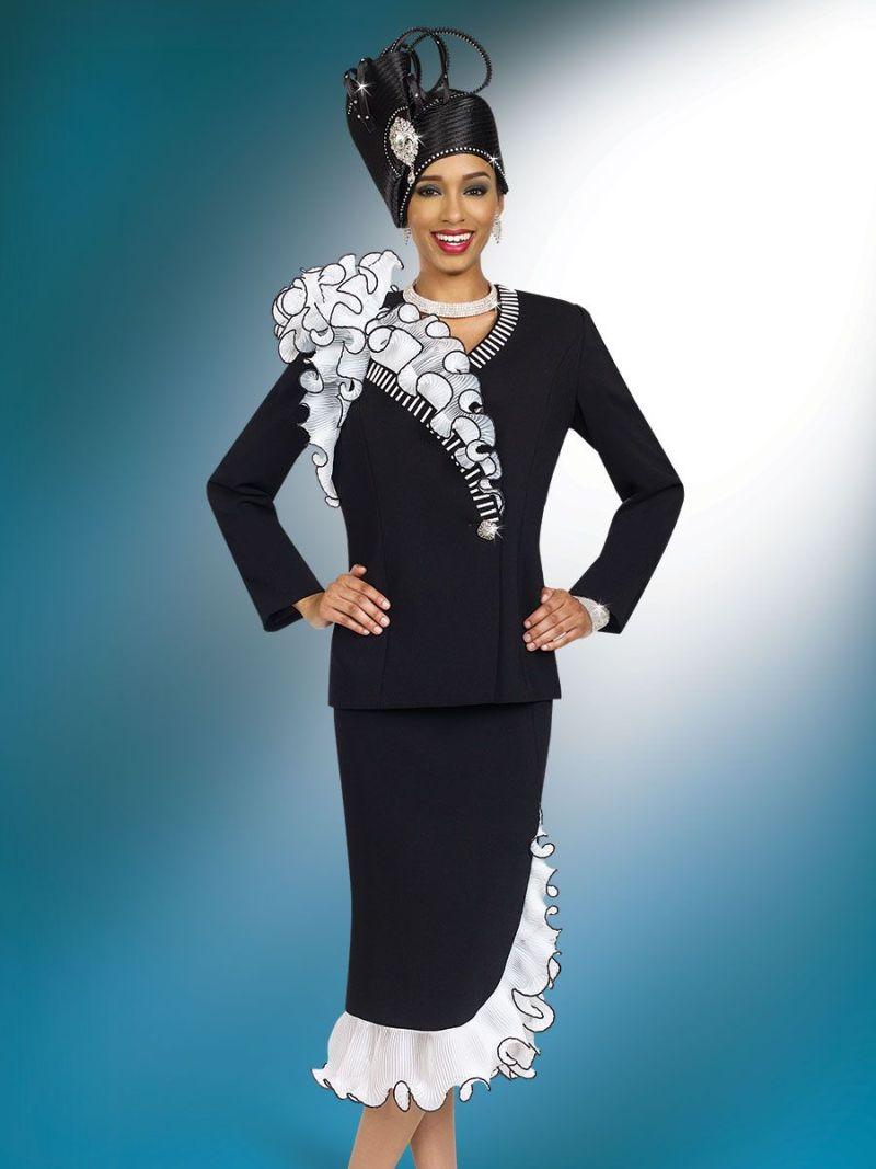 ben marc 47930 womens ruffle church suit french novelty