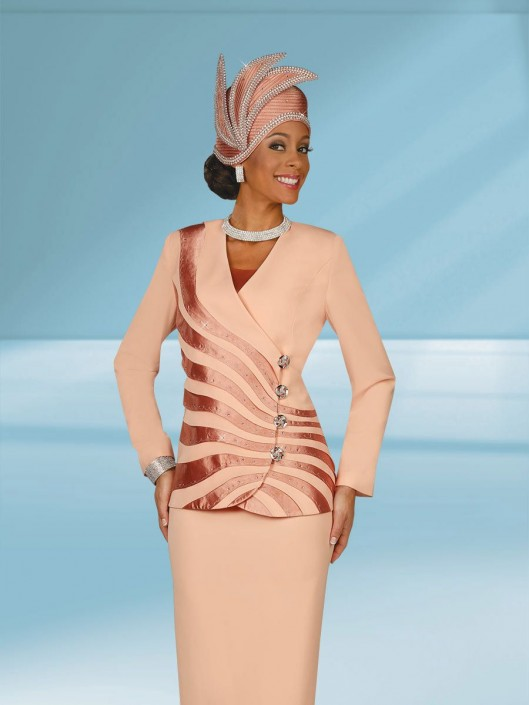 Ben Marc 47937 Womens Asymmetrical Church Suit French Novelty