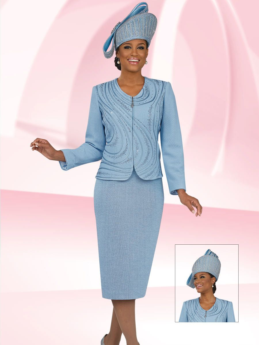 Ben Marc 47945 Womens Swirl Design Knit Suit French Novelty