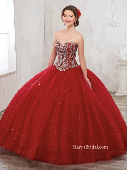 8eb8933bd54 Marys 4801 Sparkling Tulle Quinceanera Dress  French Novelty