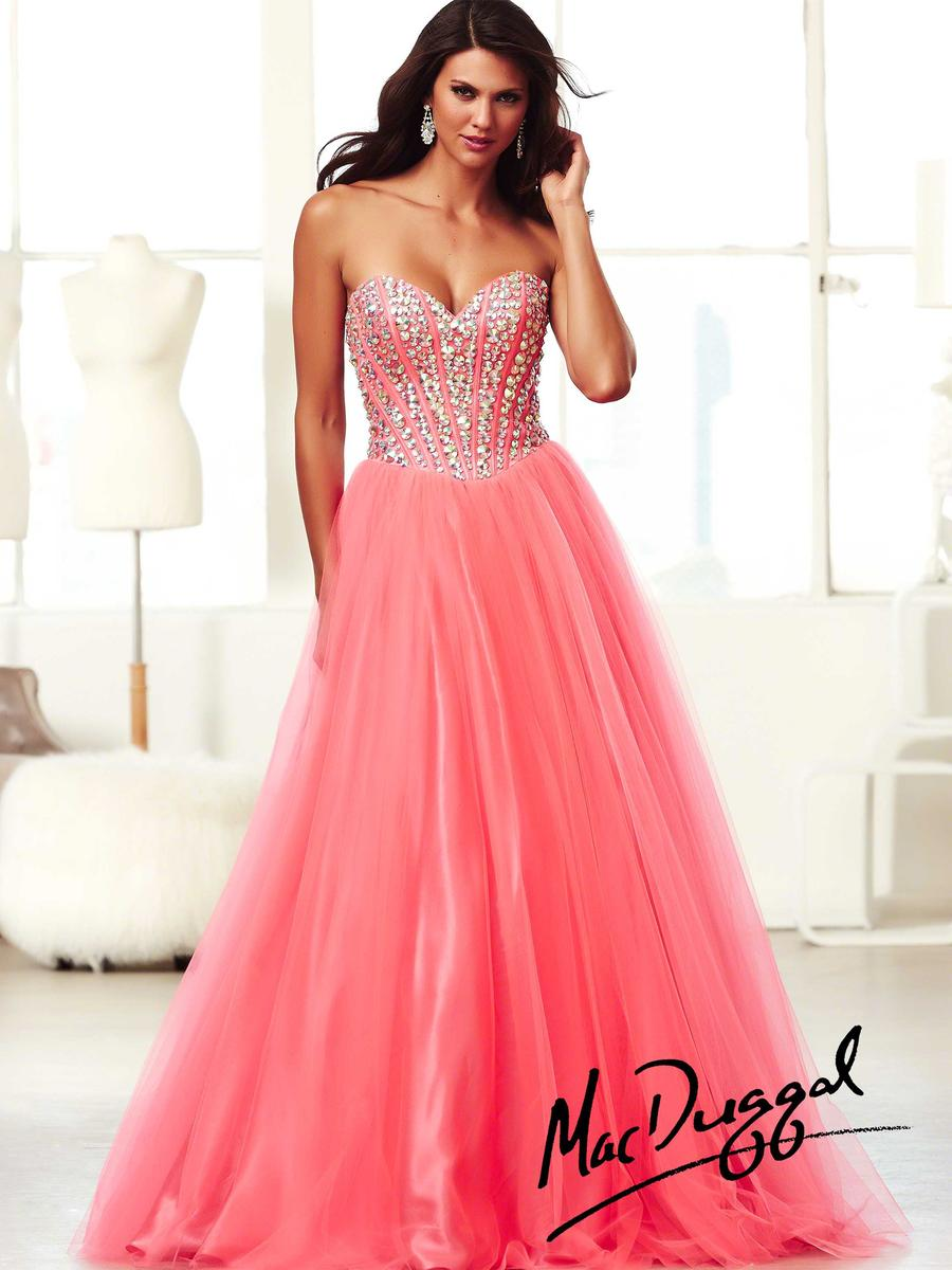 Mac Duggal Ball Gowns 48052H Beaded Corset Dress: French Novelty