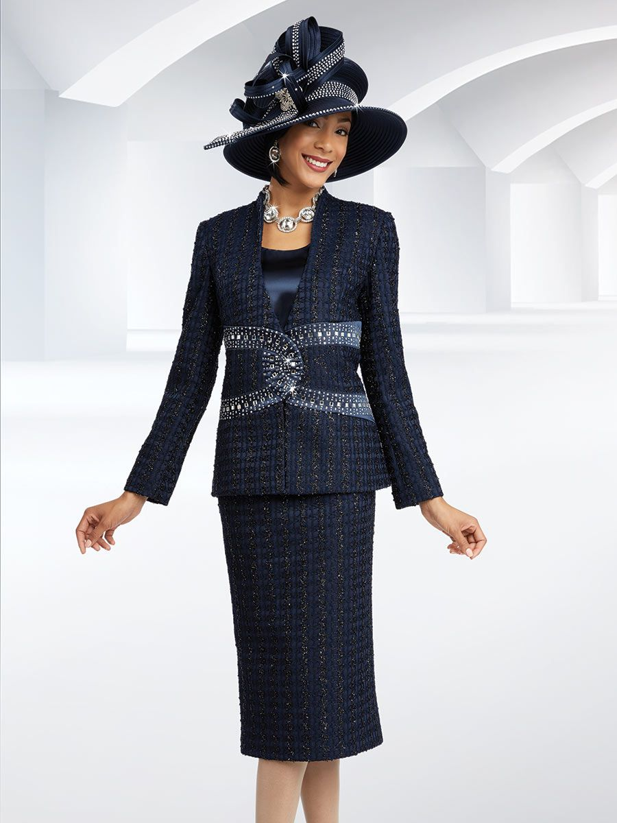 ben marc 48071 ladies embellished 3pc church suit french