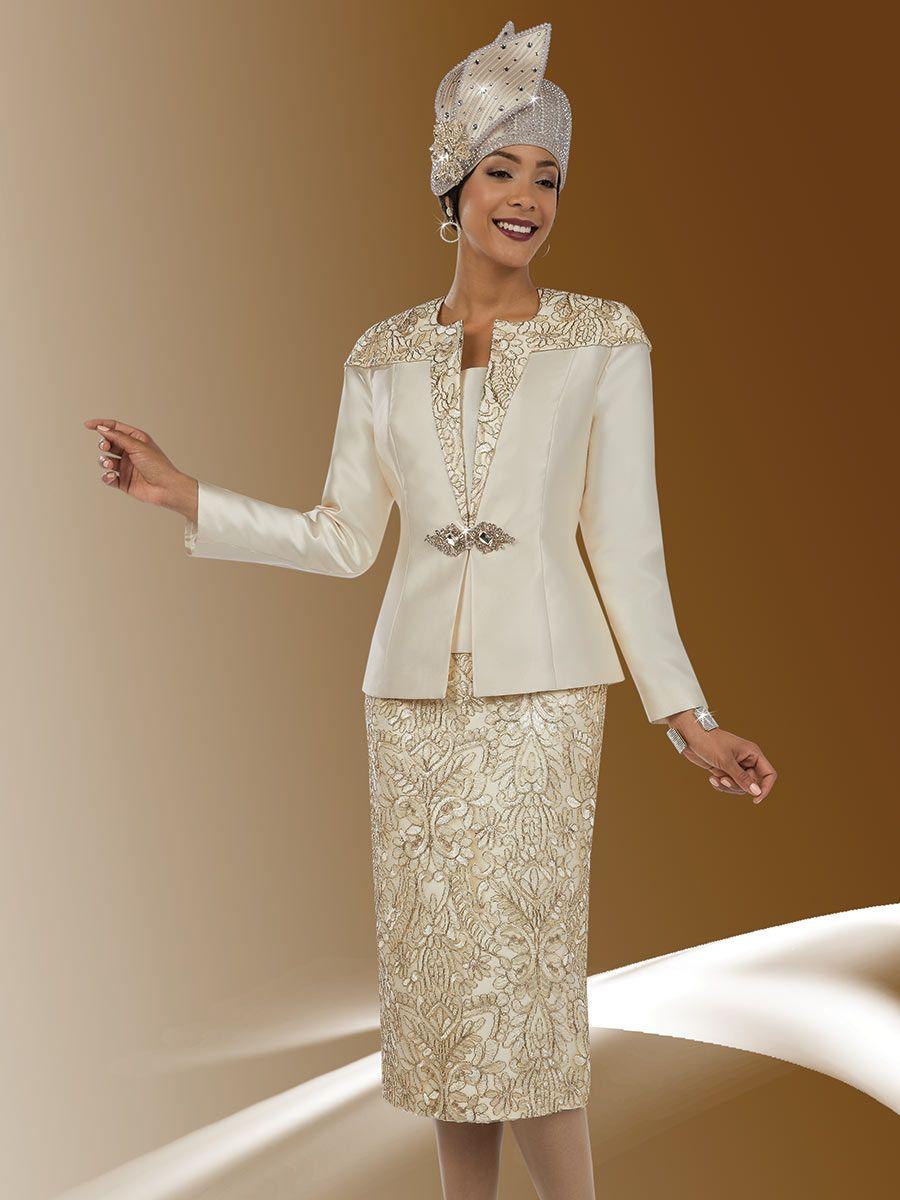 ben marc  ladies intricate lace design church suit