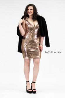 8ea91e09b8d Rachel Allan 4811 Plus Size Short Sequin Dress with Jacket