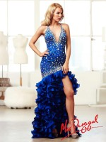 Mac Duggal 48115M High Low Halter Party Dress image